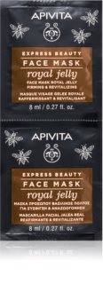 Apivita Express Beauty Royal Jelly máscara facial revitalizante com efeito reafirmante