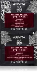 Apivita Express Beauty Grape Oogmasker  met Glad makende Effect