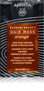 Apivita Express Beauty Orange mascarilla revitalizante para el cabello