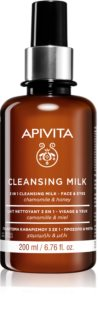 Apivita Cleansing Chamomile & Honey 3 in 1 Cleansing Lotion for Face and Eyes