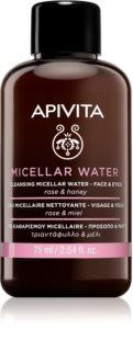 Apivita Cleansing Rose & Honey micelární voda na obličej a oči