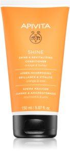 Apivita Holistic Hair Care Orange & Honey revitalisierender Conditioner, um dem müden Haar seine Strahlkraft zurückzugeben