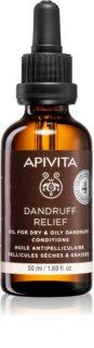 Apivita Holistic Hair Care Celery & Propolis tratamiento para cuero cabelludo contra la caspa grasa