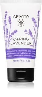 Apivita Caring Lavender nawilżający krem do ciała
