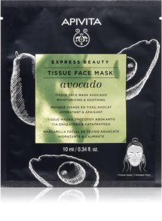 Apivita Express Beauty Avocado Feuchtigkeitsspendende Tuchmaske zur Beruhigung der Haut