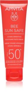 Apivita Bee Sun Safe crème apaisante et hydratante SPF 50+