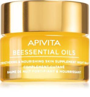 Apivita Beessential Oils нощен балсам за лице за подхранване и хидратация
