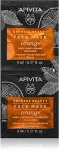 Apivita Express Beauty Orange mascarilla iluminadora para el rostro