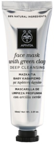 Apivita Express Beauty Green Clay tiefenreinigende Gesichtsmaske
