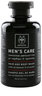 Apivita Men's Care Cardamom & Propolis gel de dus si sampon 2in1