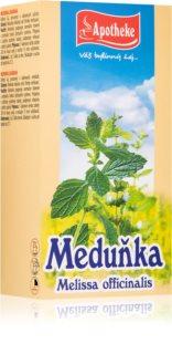 Apotheke Meduňka čaj podpora dobré nálady, relaxace a spánku