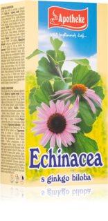 Apotheke Echinacea s ginkgo bilobou čaj podpora přirozené obranyschopnosti, imunitního systému a duševní rovnováhy