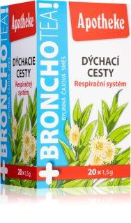 Apotheke BronchoTea čaj bylinný čaj na podporu přirozené obranyschopnosti a normální funkci dýchacího systému