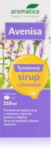 Aromatica Avenisa jitrocelový sirup ochrana dýchacího ústrojí, efektivní vykašlávání