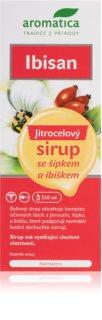 Aromatica Ibisan jitrocelový sirup pomoc při kašli a nachlazení, usnadnění odkašlávání