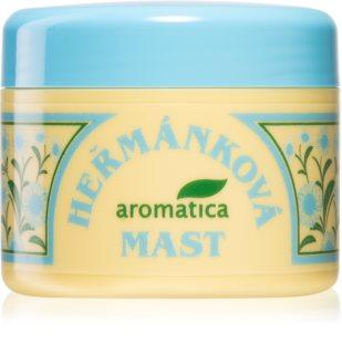 Aromatica Heřmánková mast ošetřuje podrážděnou a vysušenou kůži, působí protizánětlivě