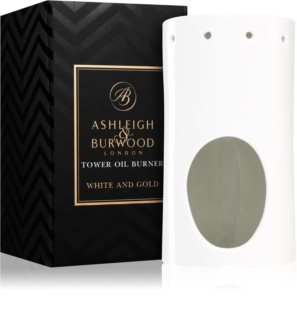 Ashleigh & Burwood London White and Gold lámpara aromática de cerámica