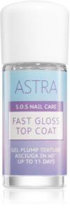 Astra Make-up S.O.S Nail Care Fast Gloss Top Coat vernis de protection brillance intense et une protection parfaite