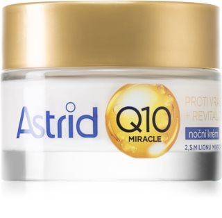 Astrid Q10 Miracle нощен крем против всички признаци на стареене с коензим Q 10