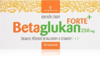 Aurovitas Betaglukan Forte doplněk stravy s přírodními betaglukany, doplněný o vitamíny C a D pro podporu imunity