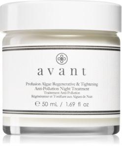 Avant Age Protect & UV Profusion Algae Regenerative & Tightening Anti-Pollution Night Treatment αναγεννητική κρέμα νύχτας με ανυψωτική επίδραση