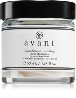 Avant Age Restore Rose & Squalane Revitalising Duo Moisturiser tápláló revitalizáló krém rózsakivonattal