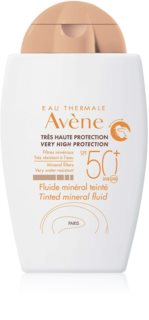 Avène Sun Minéral Tinted Mineral Sunscreen Fluid without Chemical Filters SPF 50+