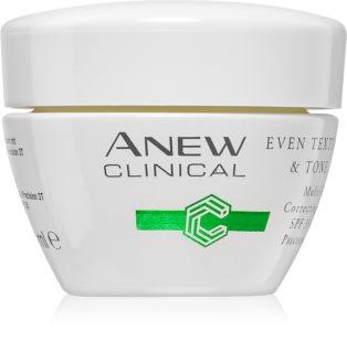 Avon Anew Clinical creme de dia hidratante para uniformizar o tom da pele SPF 35