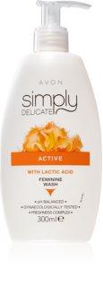 Avon Simply Delicate ženski gel za prhanje za intimno higieno