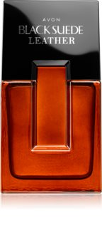 Avon Black Suede Leather Eau de Toilette for Men
