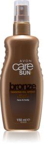 Avon Care Sun +  Bronze olej na opalování ve spreji na tělo a obličej