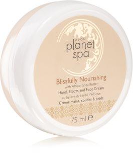 Avon Planet Spa Blissfully Nourishing nährende Handcreme für Füssen