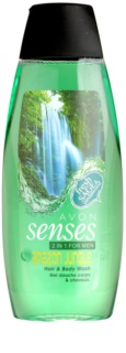 Avon Senses Amazon Jungle Shampoo en Douchegel 2in1 voor Mannen