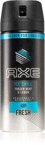 Axe Ice Chill spray şi deodorant pentru corp cu o eficienta de 48 h