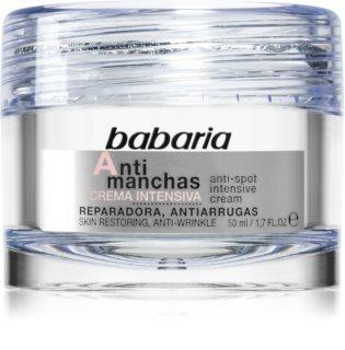 Babaria Anti Spot crema de noche intensa  contra problemas de pigmentación