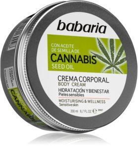 Babaria Cannabis Feuchtigkeitscreme für empfindliche Oberhaut