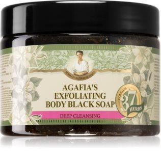 Babushka Agafia 37 Herbs απολεπιστικό σαπούνι μαύρα