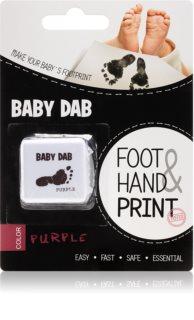 Baby Dab Foot & Hand Print barva na dětské otisky Purple