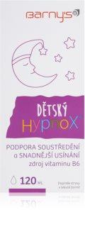 Barnys HypnoX Dětský zklidňující sirup lepší soustředění a snadnější usínání