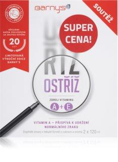 Barnys Ostříž limitovaná edice 2x120ml pro komplexní výživu očí