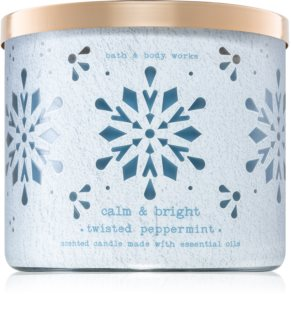 Bath & Body Works Twisted Peppermint vela perfumada
