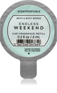 Bath & Body Works Endless Weekend illat autóba utántöltő