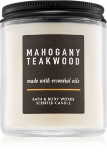 Bath & Body Works Mahogany Teakwood vela perfumada III.
