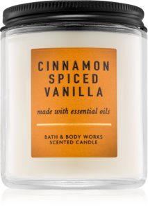 Bath & Body Works Cinnamon Spiced Vanilla vela perfumada com óleos essenciais
