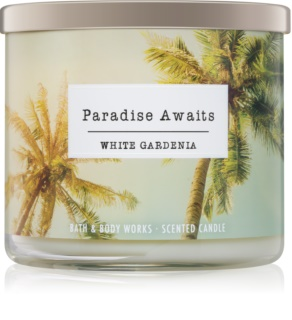 Bath & Body Works White Gardenia scented candle III Paradise Awaits