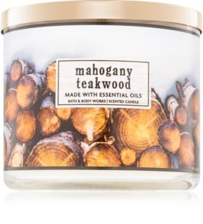 Bath & Body Works Mahogany Teakwood duftkerze  I.