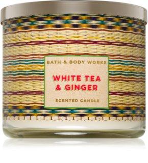 Bath & Body Works White Tea & Ginger vonná sviečka