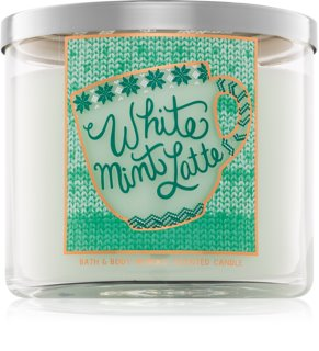 Bath & Body Works White Mint Latte vonná svíčka I.