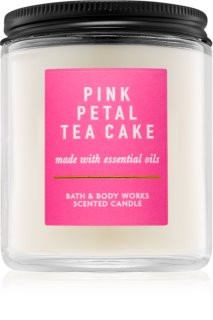 Bath & Body Works Pink Petal Tea Cake bougie parfumée