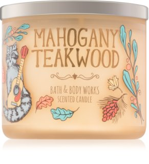 Bath & Body Works Mahogany Teakwood vela perfumada IV.